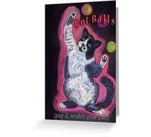 Juggling Cat - Spay/Neuter Greeting Card
