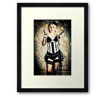 Burlesque cowgirl Framed Print