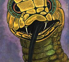 91 - SNAKE - DAVE EDWARDS - WATERCOLOUR - 2002 by BLYTHART