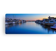Sunset over the Marina Canvas Print