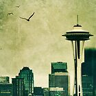 """Textured Seattle"" by eleven12design"