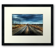 """Keep Off the Tracks"" HDR Framed Print"
