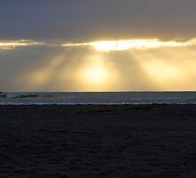 Wharariki Beach Sunset by MerishaLucinde