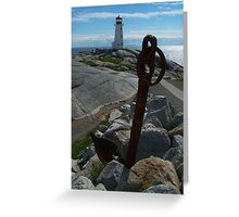 Rocks, Water And Sky Greeting Card