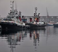 Tugboat reflections by awefaul