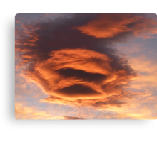The Face of the Sunset Canvas Print
