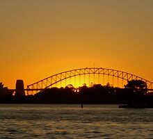 Sunset over Sydney Harbour Bridge and The Opera House by Samantha  Goode
