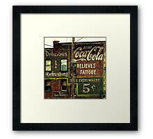 5 cents relieves fatigue Framed Print