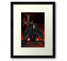 Dark Angel .. the vampires reaper Framed Print