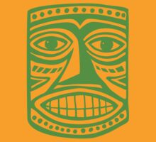 Tiki Mask II - Green by Artberry