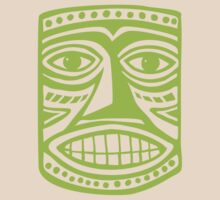 Tiki Mask II - Martian Green by Artberry