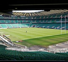 Twickenham Rugby union club by Keith Larby