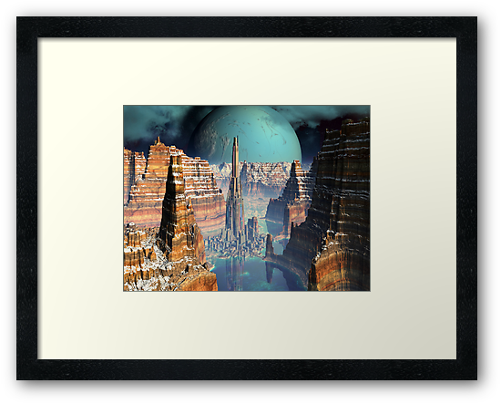 Soaring Tower City, The Giant Canyon  by SpinningAngel