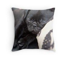 Sleeping Pug Throw Pillow