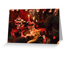 Venus & Di Milo ~ Gothic Kitty Cat Kittens in Halloween Art Decor Greeting Card