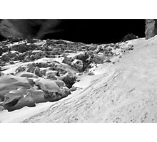 Skiing on the Giant's Cascade Photographic Print