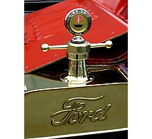 """A 1915 Model T ~ """"Motometer""""  which is a ~ Hood Ornament ~ Radiator Cap ~Temperature Gauge~ Photographic Print"""
