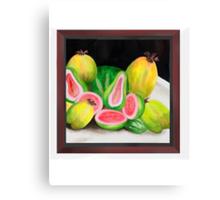 Pink Ripe Guavas Canvas Print