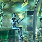 Altered Robotic Meditative States2 by Sazzart