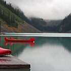 Red Canoe #2 by Eileen McVey