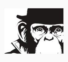 Lancelot Link Chimp Face Sticker by Jenn Kellar