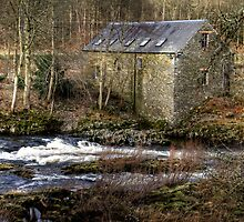 Old Mill Beside the River Tweed  by Christine Smith