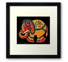 'Bobo The Elephant' - first in a new elephant series by Lisa Frances Judd. Framed Print