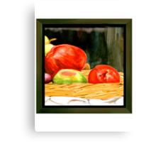 Nested Redish Apples Canvas Print
