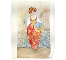 Illustration, Albanian traditional  costume Poster