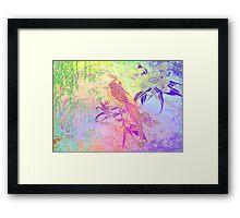 Lovely Bird. Japanese series9. Framed Print