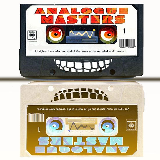 Cassette Tape Analogue Cartoon  2 by Grant Wilson