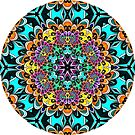 Rainbow Dahlia 2 Mandala by Pam Blackstone