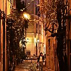 Woman Walking in Alley (Rome, Italy) by Lori  Heiss