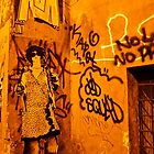Graffiti in Alley (Rome, Italy) by Lori  Heiss