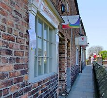 Antique Book & Collectors Shops on the Roman Walls, Chester by AnnDixon