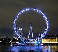 London Eye at night by Andre090904