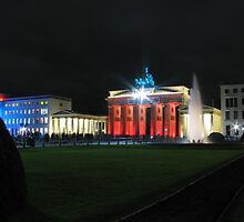 Brandenburg Gate during festival of lights by Andre090904