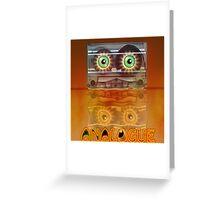 Cassette Tape Analogue Cartoon 3 Greeting Card