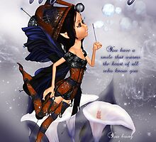 Fairy Birthday Card - Blues Fairy Blues by Moonlake