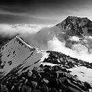 Ben Nevis and the Carn Mor Dearg arte, Scotland. by Justin Foulkes
