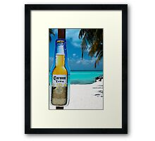 mexico beach Framed Print