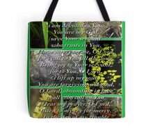 psalm 86:1-7 collage Tote Bag