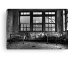 Roommates, Abandoned Hospital New England Canvas Print
