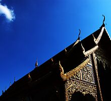Wat Phra Singh - Chiang Mai, Thailand by Marty Samis