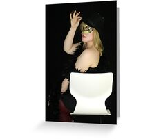 Glamorous Assistant #6 Greeting Card