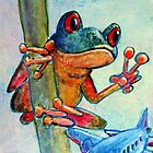 Flying Frog of Peace by Colleen Reynolds