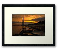 Barnegat Lighthouse Sunrise Framed Print