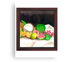 Puertorican Beach Grapes Plus Fruit Friends Canvas Print