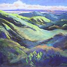 View from the Rooftop St Bernards Tamborine In Pastel  by Virginia McGowan