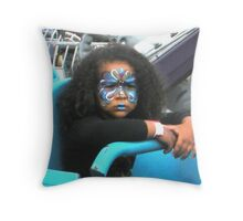 """""""Not Happy on Carnival Ride"""" Throw Pillow"""